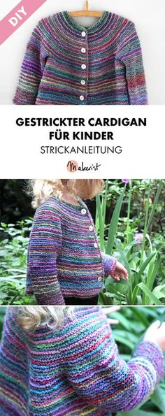 Gestrickter Cardigan für Kinder - Strickanleitung via Makerist.de
