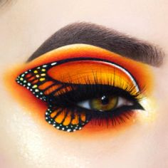 butterfly eye makeup Eye Makeup - giuliannaa is giving us butterflies with this look created with Buttercupcake, Love and Flamepoint eyeshadows! Makeup Eye Looks, Eye Makeup Art, Eye Art, Cute Makeup, Eyeshadow Makeup, Glam Makeup, Butterfly Makeup, Butterfly Eyes, Butterflies
