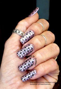 Color Club Cloud Nine, Mundo de Unas black, Uber Chic UC 1-01 stamp - nail stamp art - nail art ideas