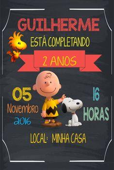 Convite Snoopy Chalkboard