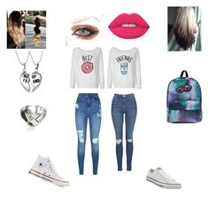"""""""#bestfriends Best Friend Outfit"""" by mckaylahooks on Polyvore featuring beauty, Lipsy, Topshop, Converse, Lime Crime, Vans and Bling Jewelry"""