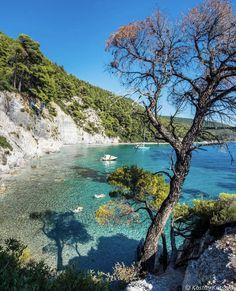 Nissaki beach, Corfou, Greece by Christophe Delas Mykonos, Most Beautiful Beaches, Beautiful Places To Visit, Skopelos Greece, Skiathos, Places To Travel, Places To See, Greece Pictures, Greece Islands