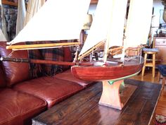 """Big gaff rig schooner 61"""" LOA : Y, Christibys"""
