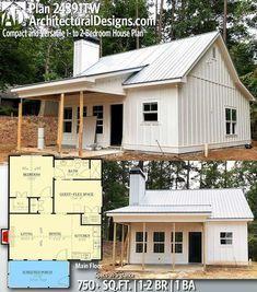 Br House, Tiny House Cabin, Tiny House Plans, Tiny House Design, Guest House Plans, Tiny Home Floor Plans, Tiny Cabin Plans, Small Barn Plans, Tiny Guest House