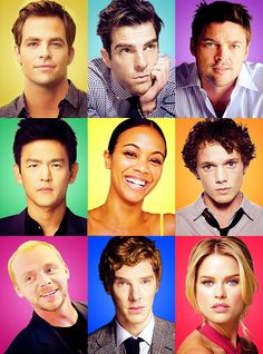 Star Trek 2013 cast!    Yes, yes, YES. Benedict in Star Trek = my life made.