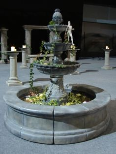Stone Fountain to rent from event prop hire