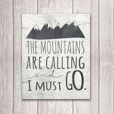 60 % OFF SALE Berge Print 8 x 10 die Berge von DreamBigPrintables