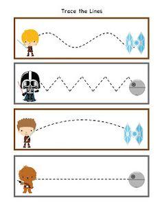 Preschool Printables: Star Wars Pattern Cards Printable