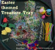 Easter treasure tray~ghostwritermummy.co.uk