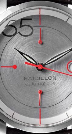 Raidillon Swiss Limited Edition Mystery Chronograph  Born out of a passion for fine timepieces and the motor racing spirit.  Raidillon timepieces are powered by Swiss-engineered movements, which are self-winding.  All watches are part of a limited series of 55 timepieces. A number derived from the company's official partnership with the epic Spa 24-hour race, in which 55 cars are eligible to take part.  And just like in motor racing, the forbidding number 13 has been left out.