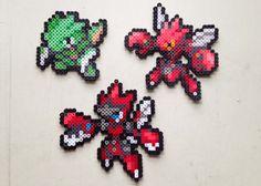 Scyther | Scizor | Mega Scizor | Pokemon | Perler Bead | 8bit | Nintendo | Sprite |