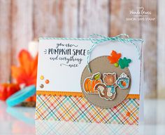 STAMPtember Collaboration with Neat & Tangled - Pumpkin Spice! | A Blog Called Wanda | Bloglovin'