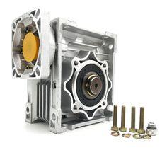 NMRV050 Worm Gearbox Ratio 10:1 14mm 19mm Input Shaft 90 Degree Worm Gear Speed Reducer NEMA42 for Servo Motor Stepper Motor  #Affiliate