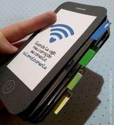 DIY: Mini álbum Smartphone   Namorada Criativa - Por Chaiene Morais