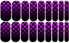 Purple Checker Fade --- My custom Jamberry NAS design. If interested message me. $25 a sheet (includes the setup fee)