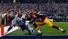 Jason Witten Photos Photos - Jason Witten #82 of the Dallas Cowboys scores a touchdown as Bashaud Breeland #26 of the Washington Redskins is unable to prevent the score during the second half at AT&T Stadium on October 27, 2014 in Arlington, Texas. - Washington Redskins v Dallas Cowboys