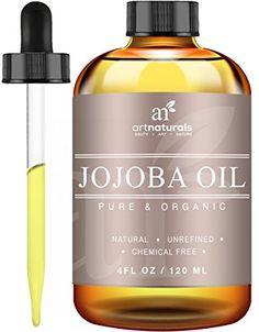 ArtNaturals USDA Certified Organic Jojoba Oil, (4oz) Best for Sensitive,Skin-Benefits The Face and Hair, Similar To Argan Oil, Without The Odor