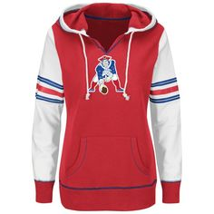 4da72b603e1b2d Ladies Majestic Throwback Obsession Hood-Red White Nfl Sweatshirts