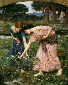 'Gather Ye Rosebuds While Ye May' by John William Waterhouse.poem: Robert Herrick: To the virgins, to make much of time: Gather ye rosebuds while ye may, Old Time is still a-flying; And this same flower that smiles today, Tomorrow will be dying.