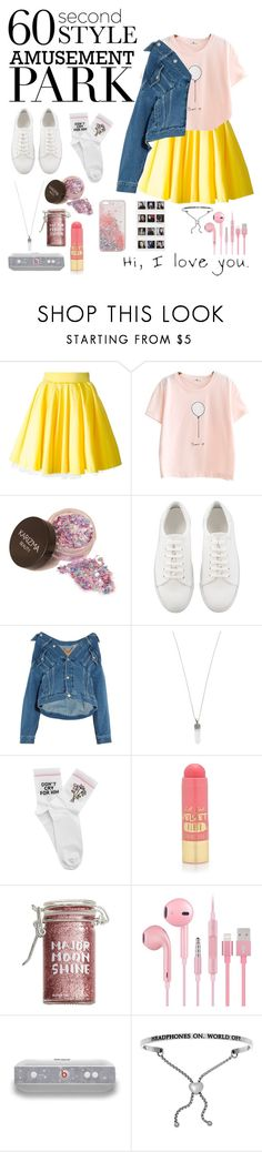 """""""Sweet Park."""" by wolvestyle ❤ liked on Polyvore featuring Philipp Plein, Balenciaga, Marc Jacobs, Yeah Bunny, L.A. Girl, Major Moonshine, Beats by Dr. Dre, amusementpark and 60secondstyle"""