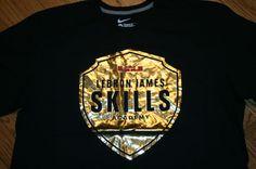 Lebron James Skills Academy Gold Black Nike Standard Fit T-Shirt Men's 2XL cavs #Nike #ClevelandCavaliers