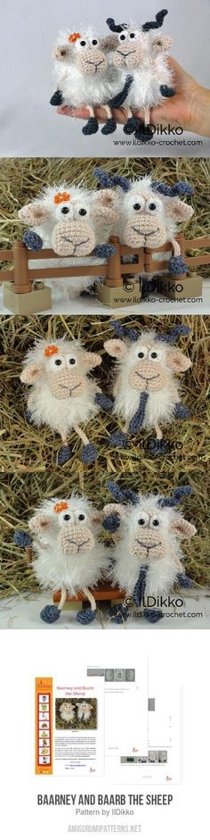 Baarney and Baarb the Sheep amigurumi pattern