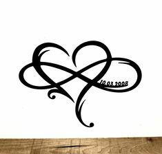 Personalized Heart Infinity Symbol with Heart and Custom Wedding Date Wall Decor - Wedding Gift for Couple - Anniversary Gift - Mandela tatuering Infinity Couple Tattoos, Heart With Infinity Tattoo, Infinity Symbol, Infinity Signs, Anniversary Gifts For Couples, Wedding Gifts For Couples, Wedding Anniversary Tattoo, Ring Tattoos, Body Art Tattoos