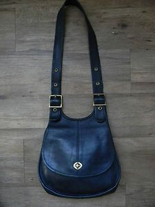 47cb2cf4e9f6 1960 s COACH Navy Hippie Saddle Bag (Made in NYC)--new in our shop this  week!