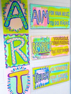 In the Art Room: Art Room Rules (Cassie Stephens) Yesterday, some pretty big and exciting news was released: I'll be teaming up with The Art of Education in the creation of Everyday Art Room, a podcast dedicated to all things elementary art teacherin Art Room Rules, Art Rules, Room Art, Art Class Rules, Art Classroom Decor, Art Classroom Management, Class Management, Classroom Organization, Classroom Ideas