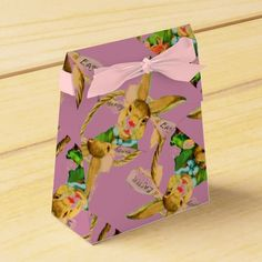 PINK EASTER BUNNIES- TENT STYLE FAVOR BOXES