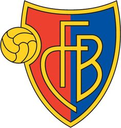 "FC Basel crest of a shield, the left half red and the right half blue. The shield is outlined with gold and in the centre in gold letters it reads ""FCB"". On the left side of the logo is a gold football. Fc Basel, Best Football Tips, Football Team, Switzerland Football, Ticket, Swiss Paracord, Soccer Logo, Soccer Teams, Football Predictions"