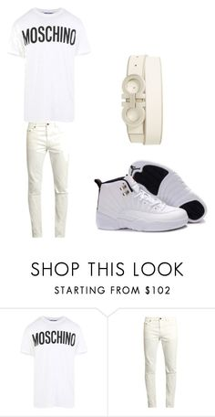 """""""UGLY GOD"""" by cmapplife ❤ liked on Polyvore featuring Moschino, Yves Saint Laurent, Salvatore Ferragamo, men's fashion and menswear"""