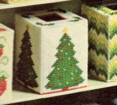 Plastic Canvas Box Patterns, Plastic Canvas Ornaments, Plastic Canvas Tissue Boxes, Plastic Canvas Christmas, Plastic Canvas Crafts, Angel Christmas Tree Topper, Christmas Poinsettia, Christmas Angels, Christmas Crafts