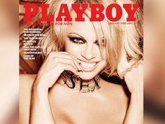 PHOTO: Pamela Anderson as the cover model of Playboy's January/February 2016 double issue—the magazine's last nude version.