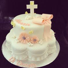 Baby Girl Baptism Cake #cute Baby Christening Cakes, Baptism Cakes, Baby Girl Baptism, Communion Cakes, Theme Cakes, Fondant Decorations, Baptism Ideas, Baptisms, Occasion Cakes