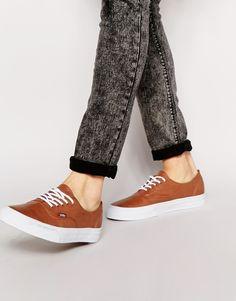 Tennis par Vans Modèle bas à lacets Semelle gaufrée avec logo Traiter avec un agent protecteur pour cuir Tige : 100% cuir