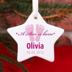 Keramikweihnachtsstern für Mädchen A Star is born