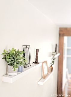 DIY Floating Shelves | Build your own floating shelves using just 2x4s. Plans and tutorial from Bitterroot DIY