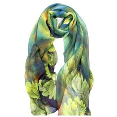 "B11 Bold Watercolor Leaf Green Blue Brown Scarf ‼️ PRICE FIRM UNLESS BUNDLED WITH OTHER ITEMS FROM MY CLOSET ‼️   Retail $79  GORGEOUS SCARF!!!! 100% viscose. Such beautiful bright colors!  39"" wide, 70"" long.  Please check my closet for many more items including jewelry, shoes, handbags designer clothing & more! Custom Accessories Scarves & Wraps"