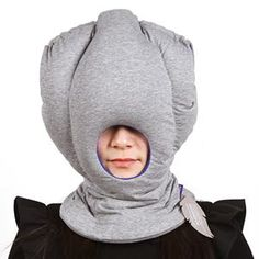 This is the head-enveloping Ostrich Nap Pillow that blocks out noise and light to create a private zone for catching a quick power nap. Neck Roll Pillow, Neck Pillow Travel, Sleeping On A Plane, Wedge Cushion, Cute Gifts For Her, Travel Office, Comfortable Pillows, Best Flights, Cushions On Sofa