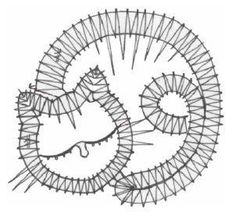 Online shopping from a great selection at Arts, Crafts & Sewing Store. Bobbin Lace Patterns, Crochet Flower Patterns, Irish Crochet, Crochet Lace, Embroidery Applique, Embroidery Patterns, Cat Template, Bruges Lace, Bobbin Lacemaking