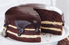 Torta de chocolate com chantily