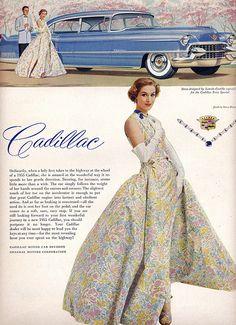 Cadillac ad -- Vogue, April 1955