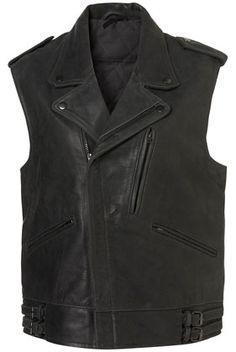 Sleeveless Biker Jacket. Imagine with a army or denim jacket under or a really fancy feminine sweater.