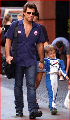 Jon with his son (Romeo)