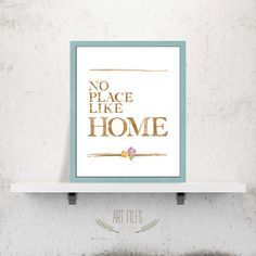 No place like home poster printable wall art by ArtFilesVicky