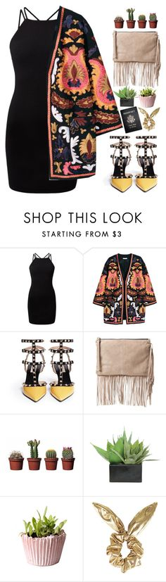 """Untitled #160"" by zalarupar ❤ liked on Polyvore featuring H&M, Valentino, MANGO, Lux-Art Silks, Topshop and Passport"