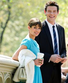Rachel Berry and Finn Hudson(Lea Michele and Cory Monteith) Nationals season 2