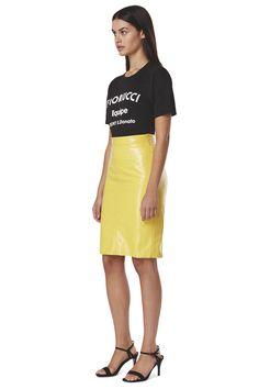 Margot  Vinyl Skinny Skirt Real Leather Skirt, Leather Skirts, Latest Jeans, Tapered Jeans, Hot Pants, Style Me, Midi Skirt, High Waisted Skirt, Women Wear