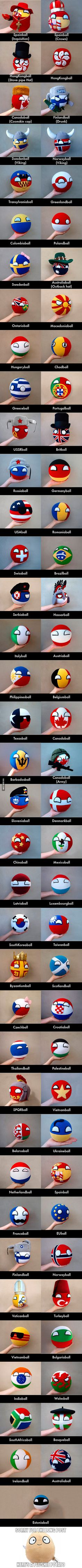 Meet the plushie countryballs. Credit: ThePlushieMagnate (My favorite is the Texasball because it hasn't even been its own country for over a hundred years)